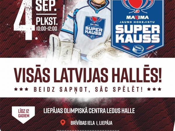 Hokeja diena Liepājas Olimpiskā Centra ledus hallē